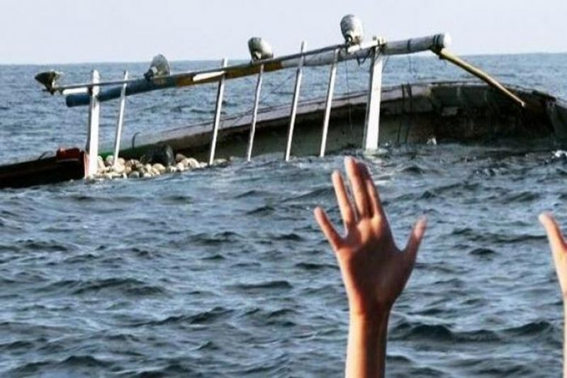 Ilustrasi orang tenggelam.