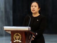 Ketua DPR RI Puan Maharani di Gedung Nusantara III DPR RI, Kamis (23/04/2020).