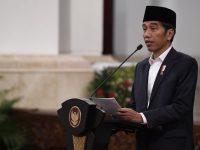 Presiden Joko Widodo menyampaikan sambutan peringatan Nuzulul Quran di Istana Negara, Jakarta (21/05/2019)./ Foto Antara